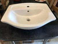 Bathroom basin white