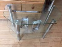 """3 Shelf Tier Glass Table Book/TV/Coffee Stand 31.5"""" Long Furniture Living Room Lounge"""