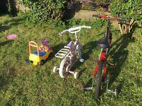 Kids and adult bike