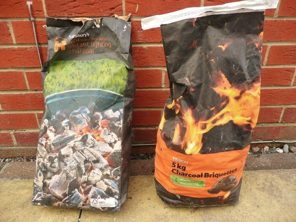 Tesco 5kg Unopened Bag Charcoal Barbeque Briquettes3/4 Sainsburys 4kg Instant Lighting Charcoalin Wickford, EssexGumtree - This offer comprises 1 X 5kg, unopened bag of Tesco Charcoal Briquettes and 1 X just over 3/4 of a bag full of Sainsburys 4kg Instant lighting charcoal Only selling because in process of moving house and no longer have a barbeque