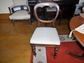 Antique spoon back dining chairs