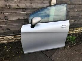 Seat Leon FR MK2 TDI 170 passenger front door in silver with glass 2005-2012