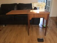 Electric Singer Sewing Machine and table model 313