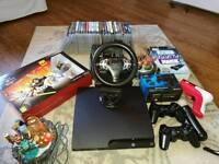 PS3 Console Slim 500 GB with games and other accessories. In good working order !!