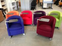 TUB CHAIR C/W TABLE/TABLET REST, WAITING ROOM, RECEPTION, OFFICE, CANTEEN etc