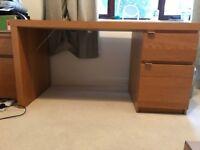 Ikea oak effect desk