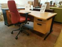 Modern office desk and swivel chair set (many available)