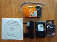 Fuji Film XP Waterproof Camera with all accessories.