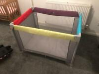 Multicoloured travel cot + free delivery