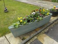 Handcrafted by us made to order Boat Planter 120cm long in Treated Featheredge wood