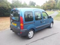 2008 renault kangoo 1.6cc automatic disable access petrol ,low miles,service hist,excellent cond