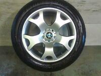 ALLOYS X 4 OF 19 INCH GENUINE BMW X5 4X4 STAGGARD E53 FULLY POWDERCOATED INA STUNNING SHADOW CHROME