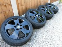 "16"" VAUXHALL CORSA SRI ALLOY WHEELS NEW TYRES *REFURBED* GLOSS BLACK 5x110 astra corsa sxi sri"