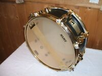 MAPEX MAPLE 12'' BLACK PANTHER SNARE DRUM GOLD PLATED HARDWARE