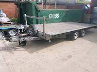 WOODFORD TRAILER FLATBED CAR RECOVERY STOCK CAR BANGER FARM BALE TRAILOR RAMPS