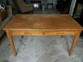Solid oak antique teacher's desk