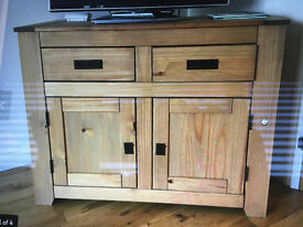 Oak Cupboard with Drawers - used as TV Stand