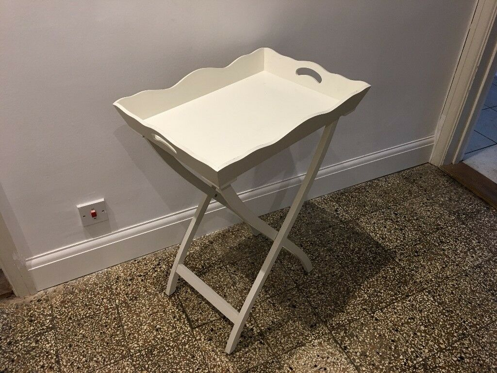 Marvelous Pretty French Style Folding Tray Table White Vgc In Farnborough Hampshire Gumtree Download Free Architecture Designs Lukepmadebymaigaardcom
