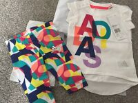 Adidas girls baby set