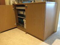Two door storage office cupboard cabinet