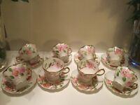 Stunning Hand Painted China Tea Set,Great For Alice in Wonderland Tea Parties etc