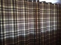 Curtains - grey highland check 90x90
