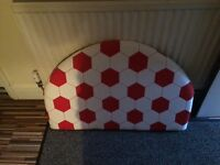 2 New single headboard red and white football design