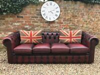 4 seater Chesterfield sofa. 3 seater available. Can deliver ..