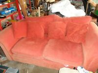 Red Sofa Bed Double size with cushions