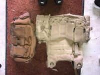 UTG tactical plate carrier and grab bag