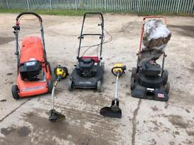 Lawnmowers and strimmers joblot