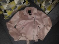 Size 14 womens coat / jacket dusty pink from new look