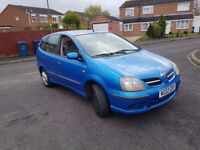 Nissan Almera Tino, 9 months MOT, drive's excellent!