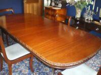 Dark Wood Dining Table