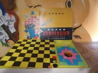 vintage old collectible board game Codeg Super Compendium of 12 games, great gift present