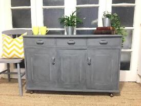 RETRO SIDEBOARD CHEST FREE DELIVERY LDN 🇬🇧grey