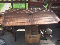 Garden table to be taken away for free
