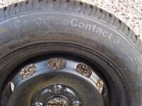 Ford fiesta 2009 spare wheel with jack etc.