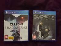 Dishonored and Killzone shadow fall £19 for both or £10 for one