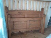 Solid Pine Double Bed and Orthopaedic Matress