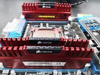 Intel i7, 32GB RAM, ASUS Motherboard, Corsair Watercooler