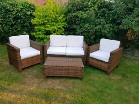 Rattan garden furniture - SOLD