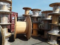 RECLAIMED CABLE DRUMS READY FOR UP CYCLE INTO TABLES OR DISPLAYS ETC CAN DEL LOCALLY