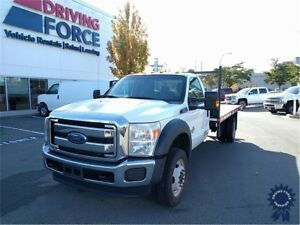 2016 Ford F-550SD XLT Regular Cab 4X4 DRW Diesel 14' Flat Deck