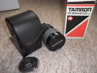 Tamron SP 28-80mm / F3.5-4.2 Zoom lens, original box and extras..