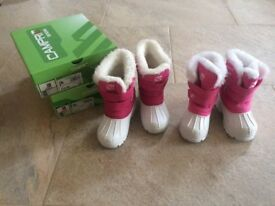 Girls Campri Snow Boots infant size C6 and C8