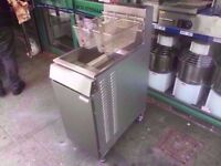 CHIPS FASTFOOD COMMERCIAL TWIN TANK CATERING FRYER MACHINE CAFE SHOP DINER TAKEAWAY FISH NUGGETS