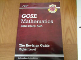 GCSE Matehmatics CGP workbook and revision guide.