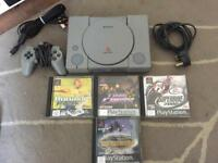 Sony PlayStation ps1 With 4 Games