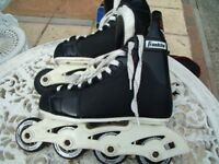 Franklin Black and White Inline Skates With Carry Bag
